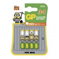 GP Minions elem R03 (mikro, AAA) 3+1db/bliszter