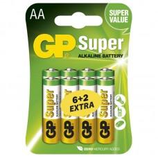 GP Super alkáli elem R6 (ceruza, AA) 6+2db/bliszter