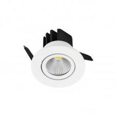 V-TAC LED beépíthető lámpa (3W COB, 240lm, fehér keret) -hideg fehér