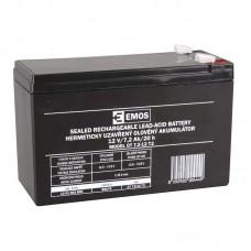 EMOS SLA ólomakkumulátor 12V 7,2Ah F2 (OT7.2-12 T2) AGM