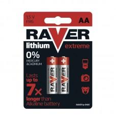 Raver lithium elem HR6, FR6 (ceruza, AA) 2db/bliszter