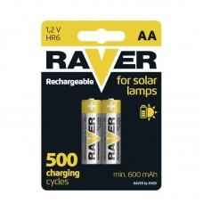 Raver SOLAR NiMH akkumulátor HR6 (AA) 600mAh 2db/bliszter