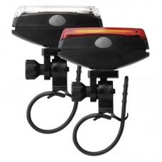 EMOS LED első + hátsó kerékpár lámpa szett  (1 W COB fehér, 1 W COB piros, vízálló)