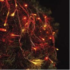 EMOS karácsonyi fényfüzér (CNT) - jégcsap 100 LED 2,5 x 0,9m - piros / vintage / villogó