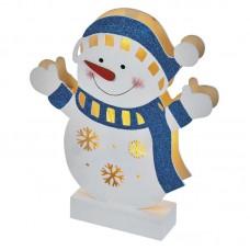 EMOS karácsonyi fénydekoráció időzítővel - fa hóember 5 LED 26,5cm - meleg fehér