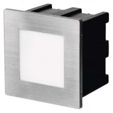 EMOS oldalfali LED lámpatest, irányfény (1,5W/75 lm) beépíthető négyzet alakú (8cm) - meleg fehér IP65