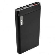 EMOS külső akkumulátor, univerzális vésztöltő (powerbank, QC 3.0, USB-C) 10000mAh, fekete (ALPHA 10PD) + 2db USB kábel (micro USB és USB-C)