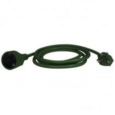 EMOS 5m hosszabbító (10A max) - zöld