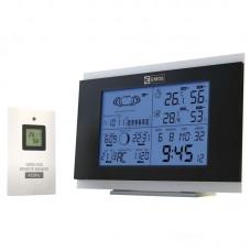 EMOS digitális meteorológiai állomás és rádiójel vezérelt ébresztőóra AOK-5018B