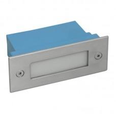 Kanlux oldalfali LED lámpatest, irányfény (0,6W/10 lm) beépíthető téglalap alakú (11x4,5cm) TAXI LED12PR WW - meleg fehér IP54