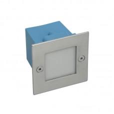 Kanlux oldalfali LED lámpatest, irányfény (1,5W) beépíthető négyzet alakú (7cm) TAXI LED9KW WW - meleg fehér IP54