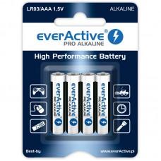 everActive PRO ALKALINE, alkáli elem R03 (mikro, AAA) 4db/bliszter