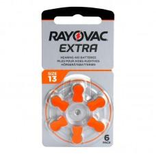 Rayovac Extra Advanced hallókészülék elem 13, ZA13, H13MF 6db/bliszter