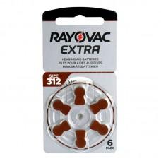 Rayovac Extra Advanced hallókészülék elem 312, ZA312, H312MF 6db/bliszter