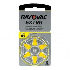 Rayovac Extra Advanced hallókészülék elem 10, ZA10, H10MF 6db/bliszter