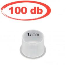 13mm-es talpas, átlátszó festéktartó kupak (prémium) 100db/csomag