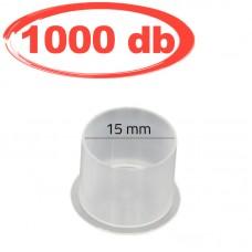 15mm-es talpas, átlátszó festéktartó kupak (prémium) 100db/csomag